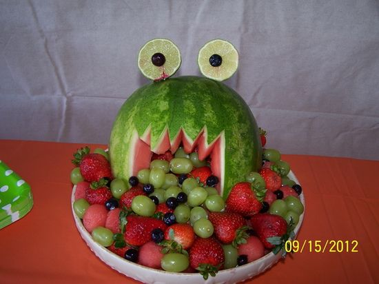 Fruit Monster at a Monster Party #monster #partyfood
