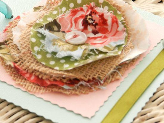 shabby chic gift tag CUSTOM handmade flower by SouthernShabbyGal, $4.50