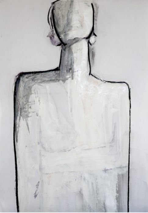 black Pen, Charcoal, Acrylic on Paper - AnnCT 2011
