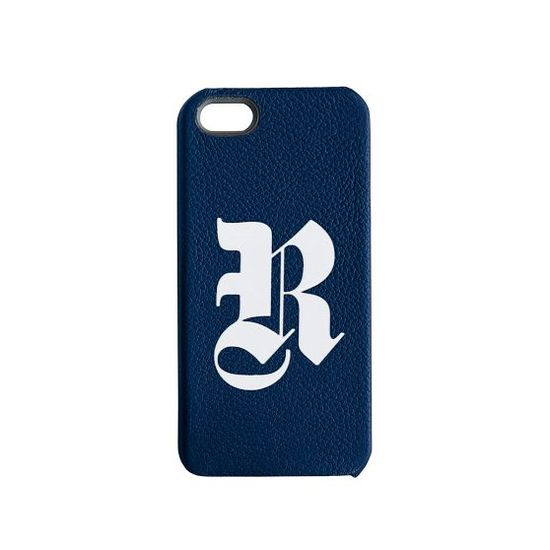Leather monogrammed iPhone case.