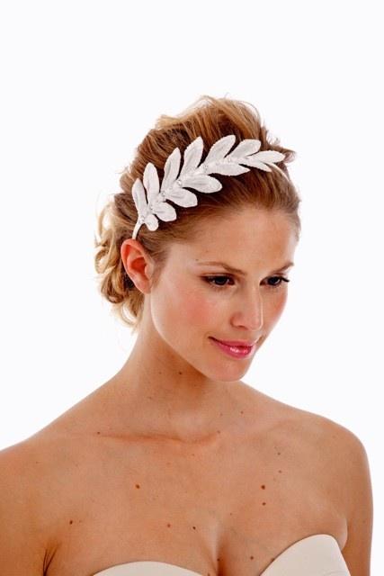 Embellished Velvet Leaf Headband from UntamedPetals