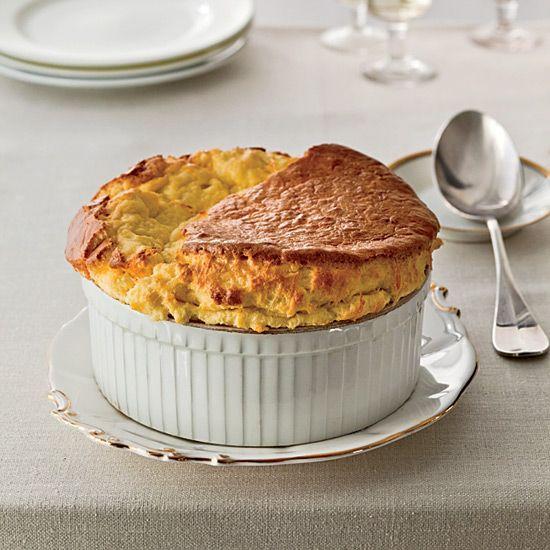 Best-Ever Cheese Soufflé // Baked Cheese Recipes: www.foodandwine.c... #foodandwine