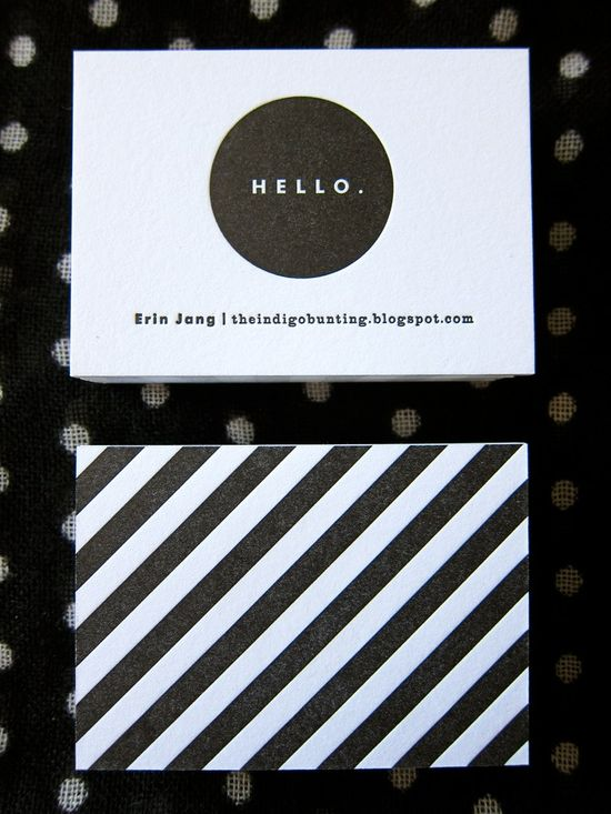 Business Card. less is more.