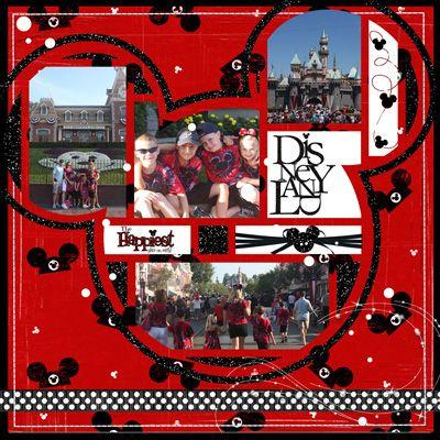 #disney #scrapbook #layout