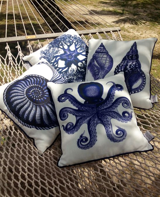 Marine Life Pillows beach house decor