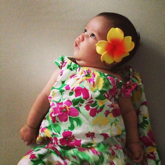 Hawaiian baby girl dress.