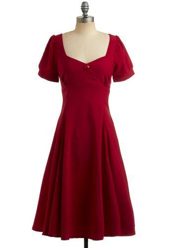 Red Like Me Dress, #ModCloth