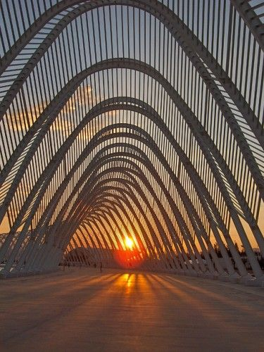 Calatrava's gateway in Valencia