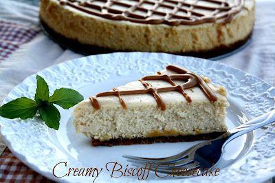 Creamy Dreamy Biscoff Cheesecake.