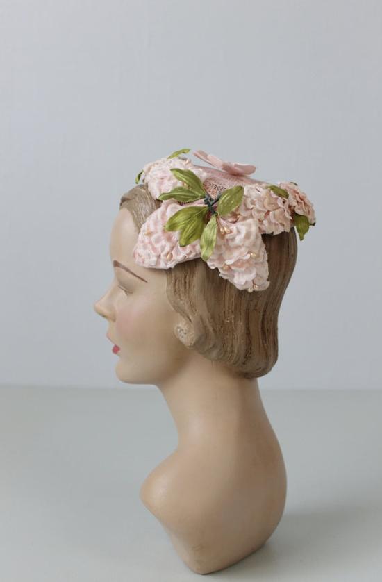 1950s Hat / 50s Pink Hat