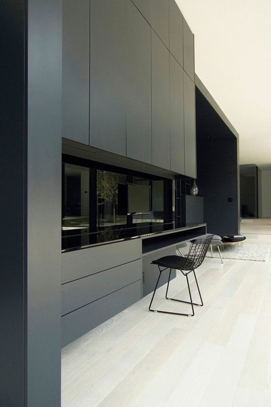 *kitchen design, modern interiors, black, minimalism* - Belvedere House by Guido Costantino Design Office