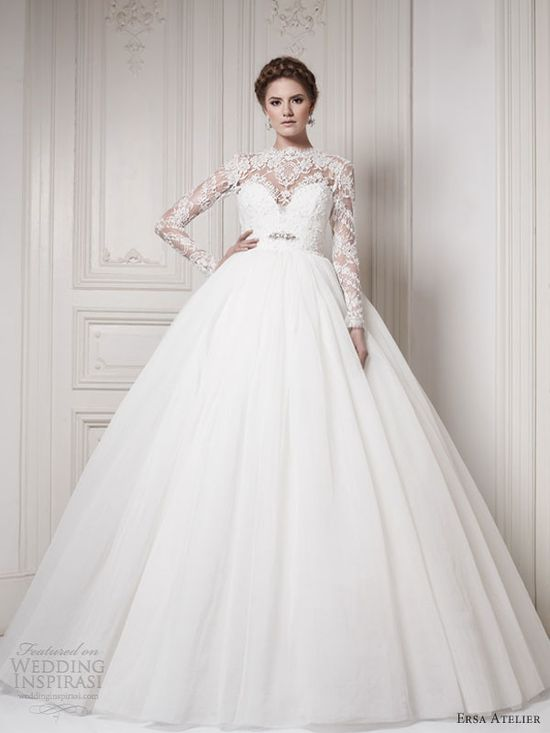 ersa atelier 2013 wedding dress ball gown long sleeves -MY FUTURE WEDDING DRESS