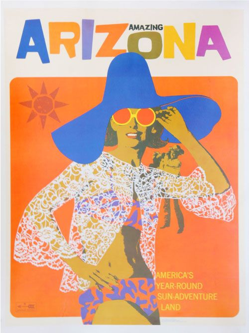 vintage arizona travel poster