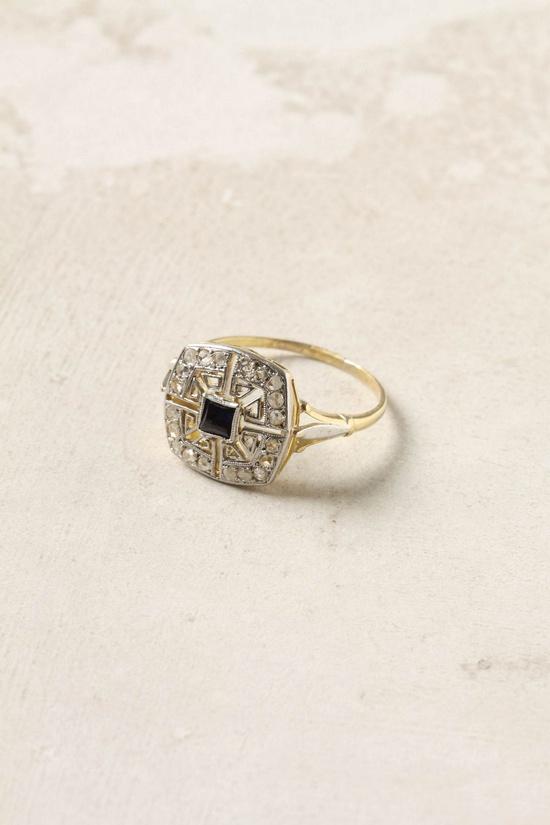 Sapphire & Diamond estate ring