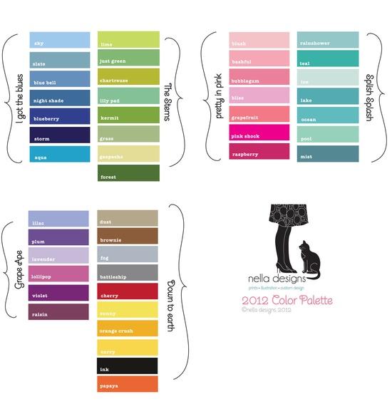 Lavender and Plum  reagans room Color Pallettes