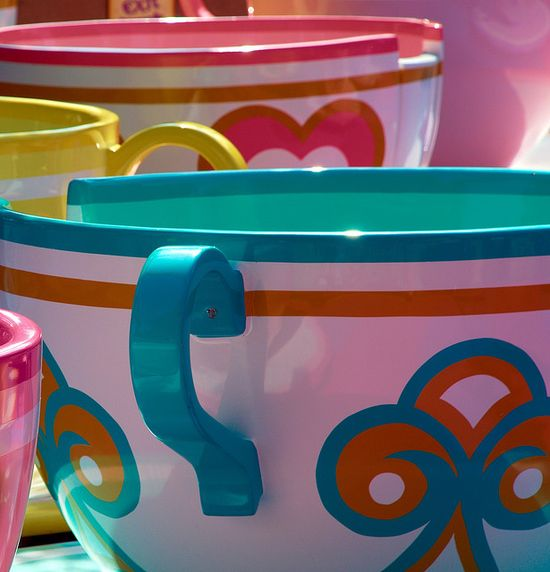 Fantasyland Disney - The only ride that ever makes me sick (tea cups).