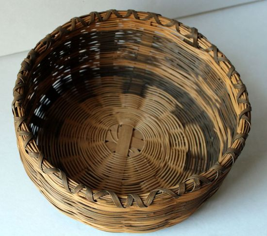 Cherokee Black Walnut Dyed Hand Made Basket