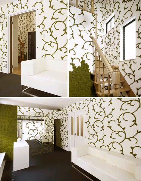 living green interior decorating pictures