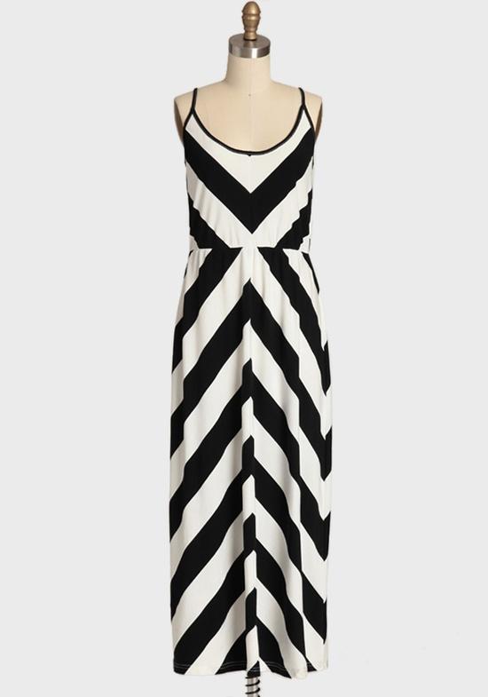 Chic Chevron Maxi Dress