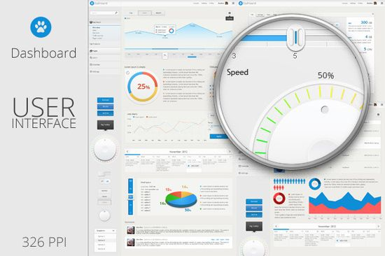 Dashboard - User Interface Template on Web Design Served
