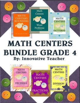 Math Centers Bundle - Grade 4 link gets you to other grade level packs
