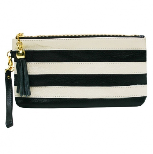 Striped Wristlet - Rebecca Allen Handbags
