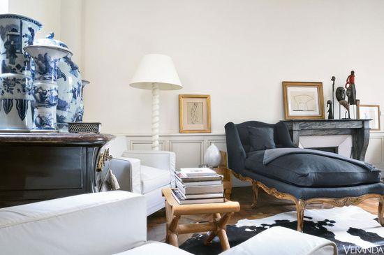 David Giesman's chic apartment in Paris' Saint-Germain-des-Prés district.