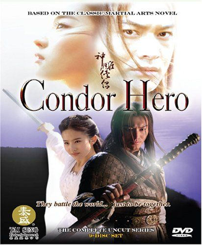 Condor Hero. Chinese. Based on the classic martial arts novel by Louis Cha. Besides being a martial arts movie, it is also a great fantasy. The orphaned Yan-Gor is taken by his uncle to a mysterious clan to learn the secrets of an ancient form of kung fu. There he meets the beautiful Dragon Girl, powerful leader of the Tomb Sect, and together they embark on a journey of danger and challenges. Stunning visuals, outstanding fight scenes. I loved it. 5 STARS!!! 9-disc set, 41 episodes.