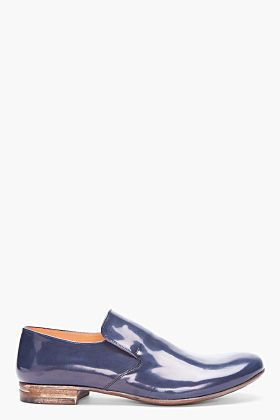 MAISON MARTIN MARGIELA Dark Blue Patent Leather Shoes