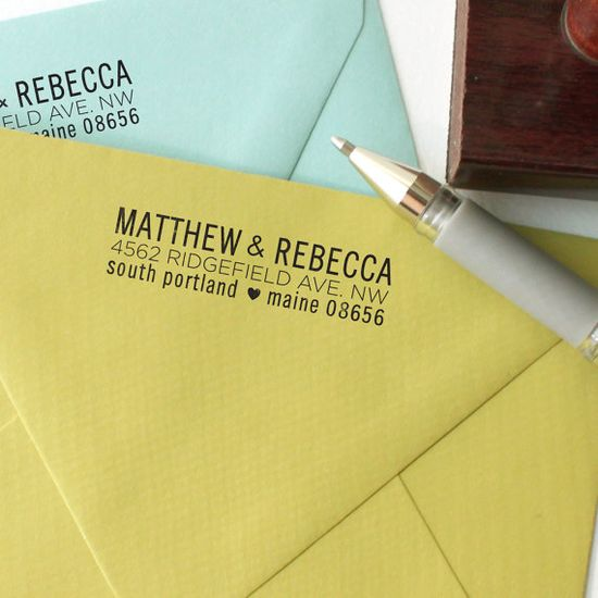 Love this personalized return address stamp