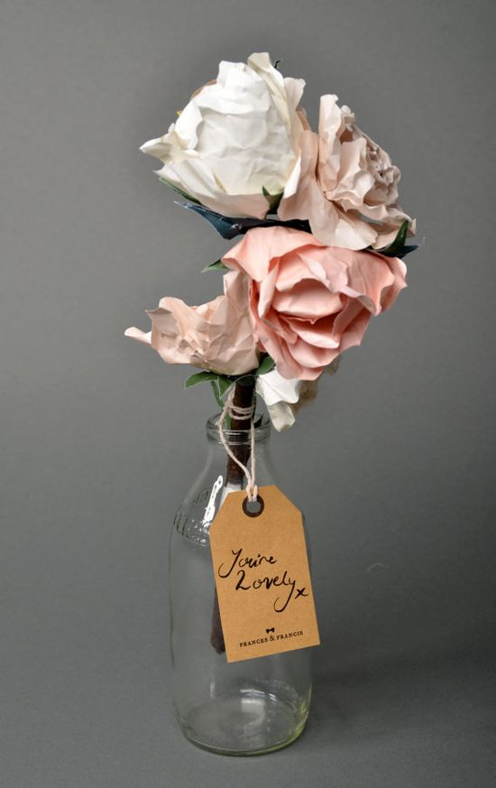 Sofia Spring Paper Bouquet  $47.68 from FrancesandFrancis on Etsy
