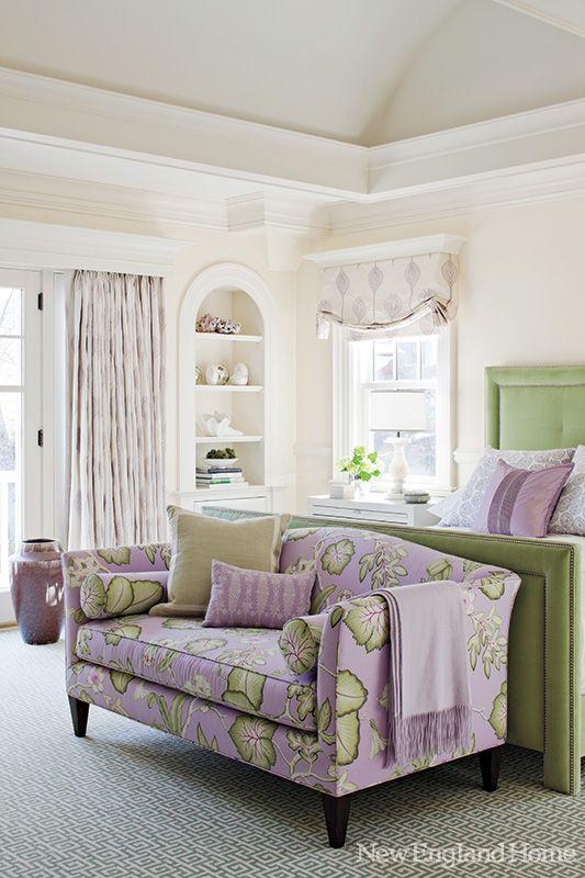 lavender and green - pretty color scheme.