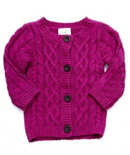 Baby Irish Cardigan - Sweaters - Shop - baby girls