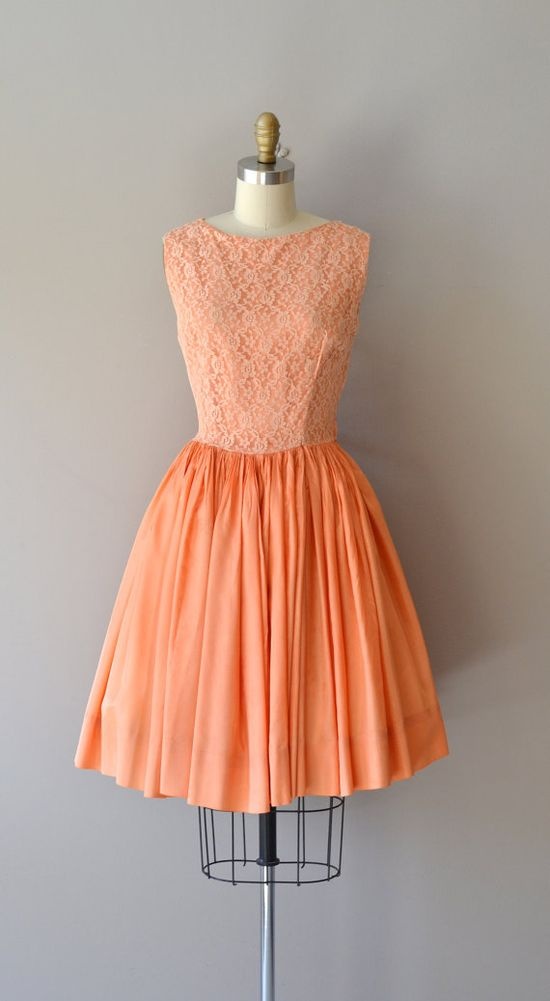 vintage 50s dress #partydress #vintage #frock #retro #teadress #romantic #feminine #fashion