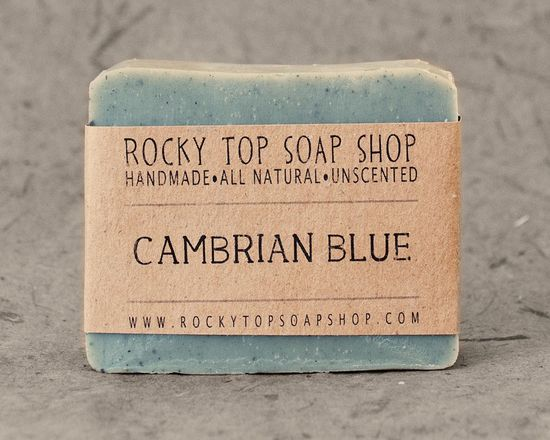 Cambrian Blue Clay - All Natural Soap, Handmade Soap, Unscented Soap, Cold Process Soap, Vegan Soap. $6.50, via Etsy.