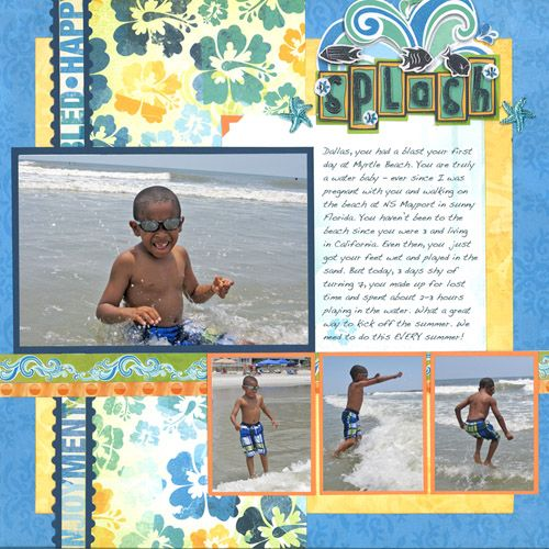 Splash - Scrapbook.com - #scrapbooking #layouts #bobunnypress #summer