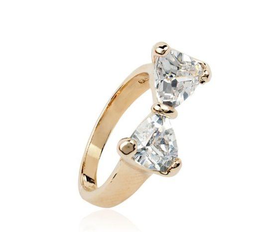 Diamonds & Bow Ring