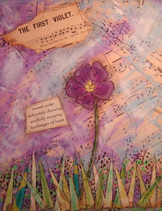 sweet violet delicately dancing soulfully swaying harbinger of hope (c) julie king