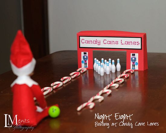 Elf on the Shelf bowling