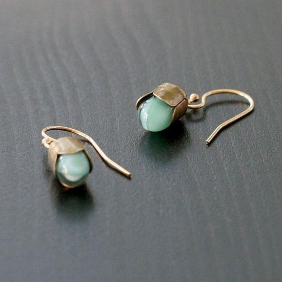 Alain earrings in blue