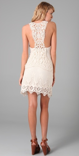 Lace back!  So cute...