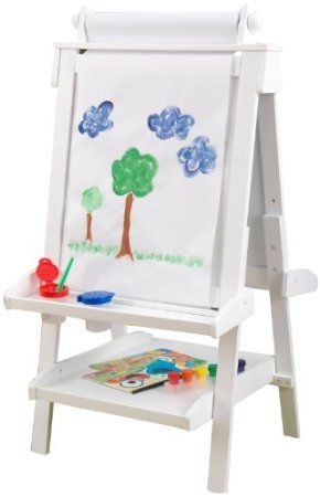 Amazon.com: KidKraft Deluxe Wood Easel, White: Toys & Games