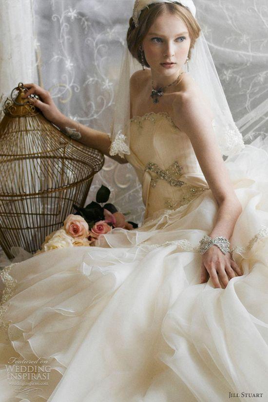 jill stuart wedding dresses 2012 strapless romantic ball gown