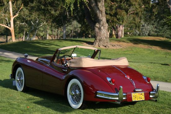 vintage jaguar - those curves, those wheels, that boot!  CLASSIC!