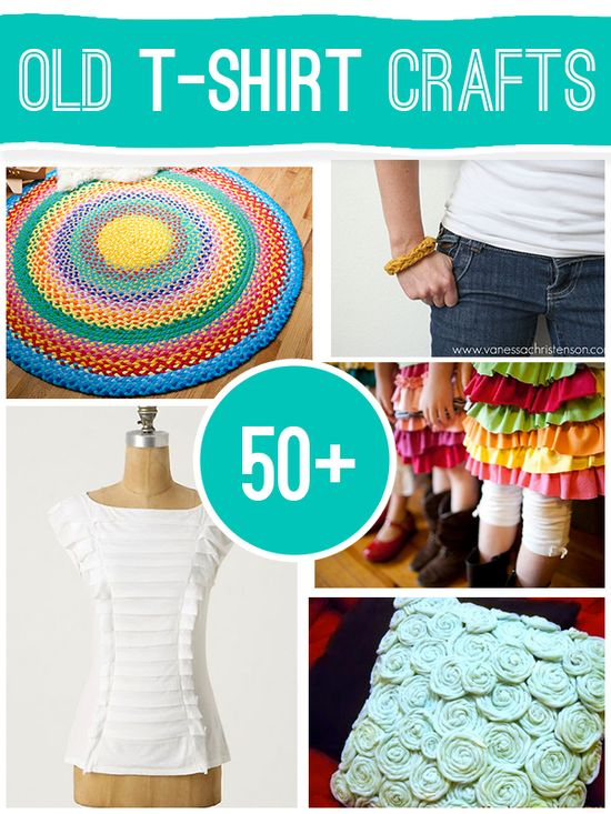 50+ projects to make using old t-shirts