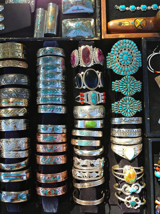 Hand made Navajo jewelry in Sedona