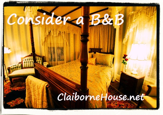 The Blue Ridge Room at The Claiborne House Bed and Breakfast. www.claibornehous...