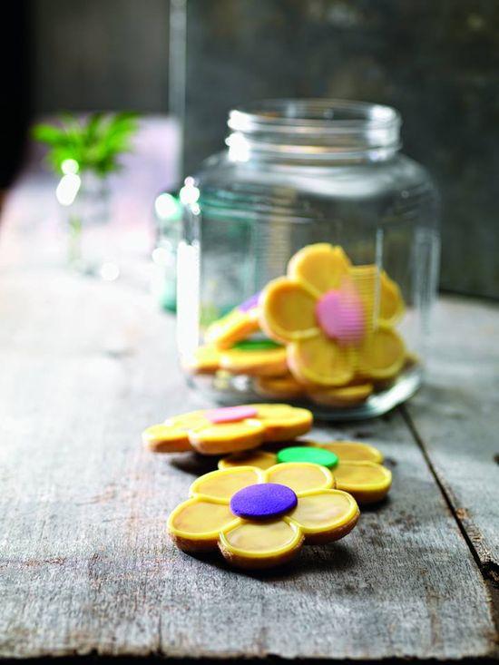 #DIY #Flower #cookies #party #kids