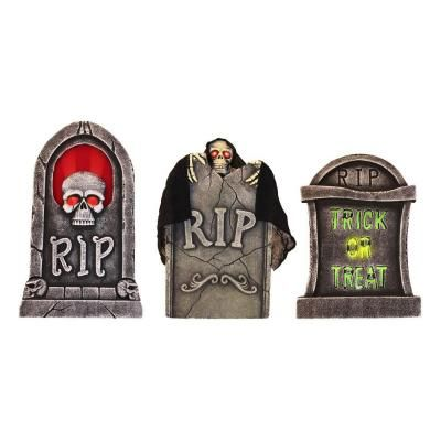 Halloween - Spooky Light Up Tombstones at The Home Depot