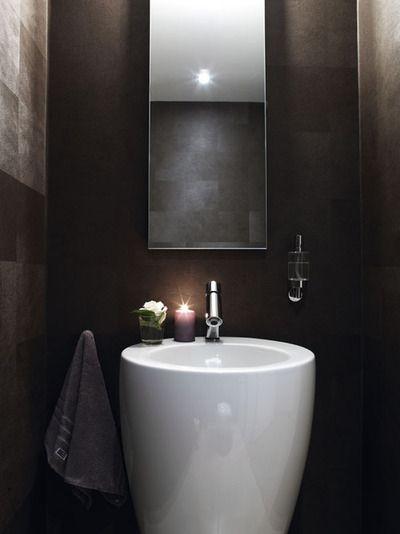 black and white interior  bathroom